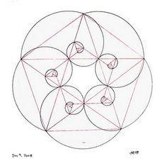 36 & 72 & 72 degrees Fibonacci spiral and pentagon Pattern Fibonacci ...