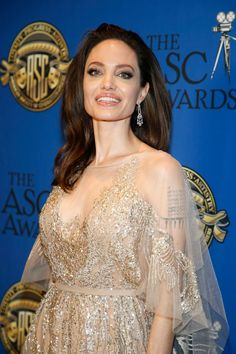At the 2018 ASC awards Angelina Jolie, Shiloh Jolie, Jolie Pitt, Jonny Lee Miller, Natalie Portman, Fashion Line, Celebs, Celebrities, Brad Pitt