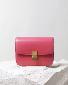 CÉLINE | Fall 2014 Leather goods and Handbags collection | CÉLINE, CLASSIC HANDBAG PINK BOX CALFSKIN 164173DLS.24PI