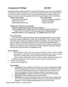 Secondary ELA Syllabus
