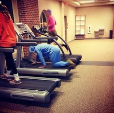 Never Give Up Unless you fall on a treadmill. Then you can give up.
