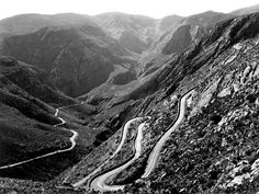 A motor highway of surpassing grandeur rising to a height of feet above sea level Mountain Pass, Sea Level, Mountains, Garden, Nature, Travel, Garten, Naturaleza, Viajes