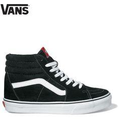312f051fa42e03 Vans Sk8-Hi High Top Trainers - Black White Stripe ( 70) ❤