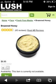 Best face mask EVER!!!  I love LUSH products