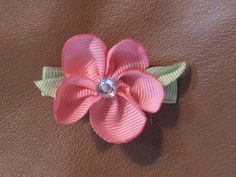 Ribbon Flowers using Scrap Ribbon- 2nd Instruc. Contest - Hip Girl Boutique Free Hair Bow Instructions--Learn how to make hairbows and hair clips, FREE!