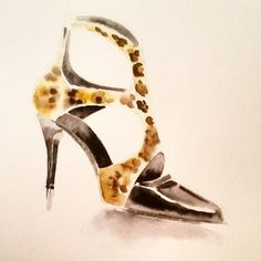and another onr of my @tamaramellon series of #illustrations this is #misbehave #shoe #leopard #print #black #laquered #leather #fashion #fashionillustration #fashionart #fashionlove #accessories #highheels #inspiration #creative #beautiful #art #artwork #artdaily #sketch #style #chic #elegance #wild #watercolor #look