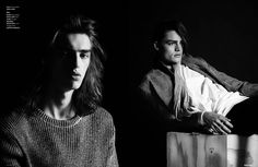 'Moody Menswear' - Models Herbie Rhodes and Isaac Plowright star in 'Through The Boys,' a moody menswear editorial that is captured by photographers Nocer...
