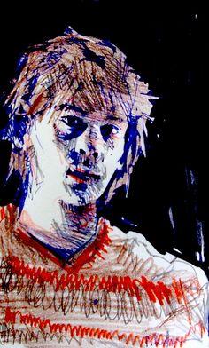 Colin Dunbar | Fluffy | Biro and Felt Tip Pen
