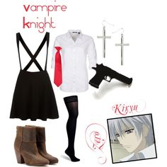 """""""Zero, from Vampire Knight"""" by blackrabbitmegapig on Polyvore"""