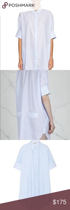 Acne Studios Lash Oversized Striped Shirtdress Worn once. No flaws. Size 36. 100% cotton. Acne Dresses