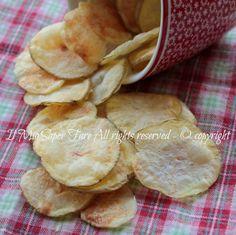 Chips patate al microonde asciutte e leggere ricetta il mio saper fare
