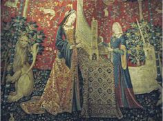 Cluny Unicorn Tapestries - The Sense of Hearing - Loire Region about 1500, Musee de Cluny, Paris