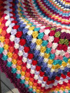 Giant granny square crochet afghan
