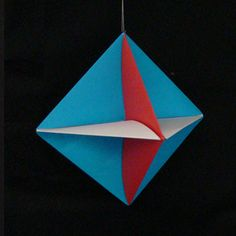 Modular origami is a type of origami where two or more sheets of paper are folded into units, modules.  The units are then assembled to create amazing geometric shapes.