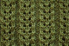 Double Eyelet Rib Stitch pattern by Derya Davenport