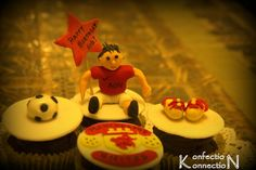 Manchester united cupcakes!