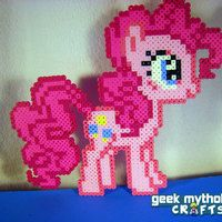 Pinkie Pie - My Little Pony Perler Bead Sprite Figure -
