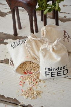 Reindeer feed for the kids to put out