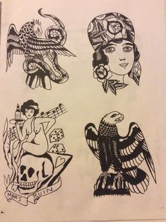 Traditional Tattoo Reference, Traditional Tattoo Flash Sheets, Traditional Tattoo Old School, Traditional Tattoo Art, Traditional Flash, American Traditional, Antique Tattoo, Vintage Tattoo Design, Charm Tattoo