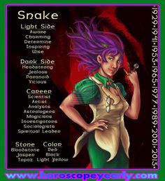 Made for the Zodiac Contest by commission-i See the version without text on it here. References for the information listed is from: US Bridal Guide (whi. Chinese Zodiac: Year of the Snake Chinese Zodiac Snake, Chinese Zodiac Signs, Libra, Age Of Aquarius, Celtic Astrology, Chinese Astrology, Fire Snake, Astrology Predictions, Zodiac Years