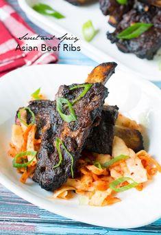 Rib Recipes, Grilling Recipes, Asian Recipes, Dinner Recipes, Cooking Recipes, Asian Foods, Beef Ribs Recipe, Asian Beef, Think Food