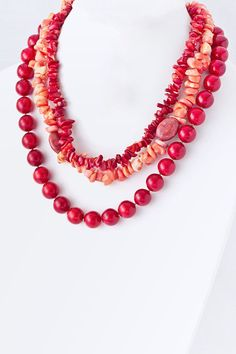 Semi-precious layered necklace, gorgeous! http://www.krisandkate.com/dealoftheday.html  $35