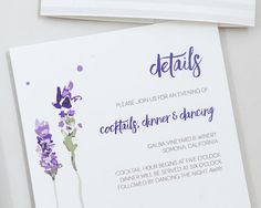 Rustic Lavender Wedding InvitationsModern Floral Wedding