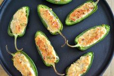 Baked Jalapeno Poppers are a healthier version of the decadent fried appetizer ~ these guys are just as addictive as the originals, without all the guilt!