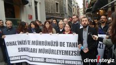 """ÇHD ve ÖHD İstanbul'da Yürüdü: """"Verilen faaliyet durdurma kararları da yok hükmündedir"""" :http://direnisteyiz3.org/chd-ve-ohd-istanbulda-yurudu/"""