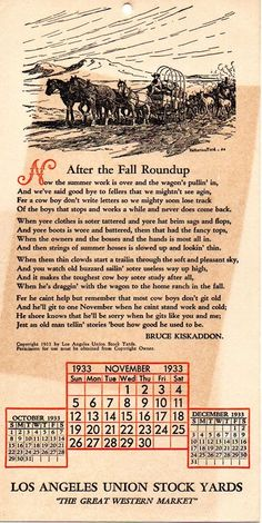 """"""" After the Fall Roundup """" by Bruce Kiskaddon. Cowboy Poetry, After The Fall, Summer Work, Letters, Writing, Letter, Composition, Fonts, Writing Process"""