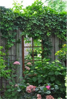 One of my next projects is to install a mirror window on our garden wall. (9)
