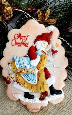 Oh....Santa!  Happy Holidays!  Merry Christmas Everyone! by The Cookie Lab - Bolachas Decoradas Artesanais