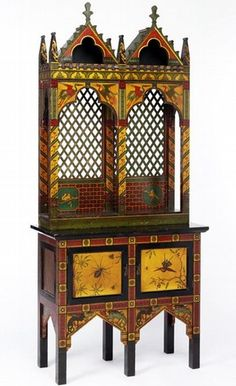 Home Decor Objects : Illustration Description [Victorian Gothic revival tall cabinet, England, Museum no. Victorian Furniture, Victorian Decor, Victorian Gothic, Victorian Homes, Antique Furniture, Medieval Furniture, Victorian Interiors, Rustic Furniture, Modern Furniture