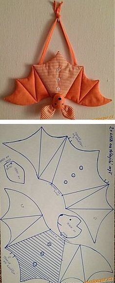 saving this because i have never seen a bat pattern. saving this because i have never seen a bat pattern. Sewing Toys, Sewing Crafts, Sewing Projects, Sewing Clothes, Sewing Ideas, Diy Projects, Fall Crafts, Halloween Crafts, Diy And Crafts