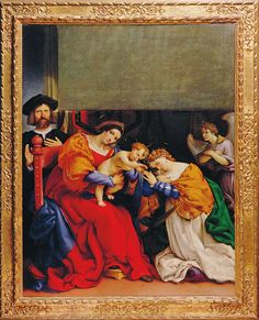 Lorenzo Lotto, Mystical Marriage of Saint Catherine, dated 1523