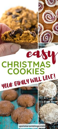 25+ of my favorite Christmas cookie recipes! Gingersnaps, pecan tassies, snowmen, reindeer and so much more! Stamped, rolled and drop cookies. Find great ideas for a cookie exchange.