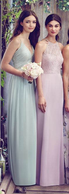 Pastel Mix and Match Bridesmaid Dresses