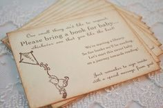 Bring a Book Insert Card Baby Shower by SeasonalDelightsBaby, $11.00