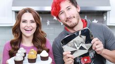YOUTUBE PLAY BUTTON CUPCAKES ft Markiplier! - NERDY NUMMIES - YouTube