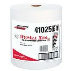 "WypAll X80 Shop Towels - wypall x80 shop pro jumbo roll white 475 per rol by Kimberly-Clark. Save 12 Off!. $76.99. Heavy-duty paint booth area and machine cleaning. No heavy metal contaminants; new clean towel every time. Consistent size, shape and cleanliness. Reusable and durable; Absorbs oils, grease and water fast. Cleaning the booth during color changes. Cleaning rough surfaces Removing debris. Absorbing thick liquids. Jumbo roll. White color. Measures 13-25/64"" length by 12..."