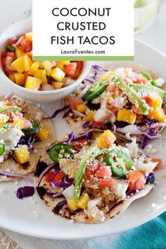 Hands down the BEST Fish Tacos Recipe Taco Tuesday   Tacos   Taco Recipe   Fish Tacos   Seafood Tacos   Coconut Crusted Fish Tacos   Coconut   Dinner Ideas   Quick Easy Meals #tacos #tacotuesday #fishtacos