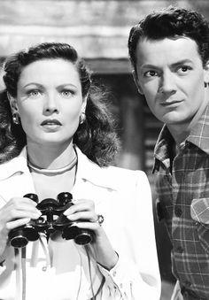 """"""" Gene Tierney & Cornel Wilde in Leave Her to Heaven (1945) """""""