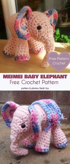 MeiMei Baby Elephant Free Crochet Pattern In many cultures an elephant is considered a sign of good fortune. Why not increase your fortune and good luck with an adorable ami elephant, Baby Girl Crochet, Cute Crochet, Crochet Crafts, Crochet Toys, Crochet Projects, Crotchet, Baby Patterns, Crochet Patterns, Crochet Elephant Pattern Free