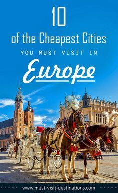 10 of the Cheapest Cities You Must Visit in Europe #travel #budget