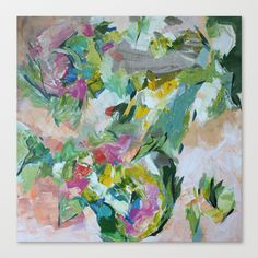 Bouquet  Stretched Canvas by Jenny Vorwaller - $85.00