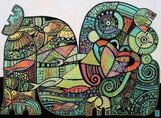 Laid back tiki Weird And Wonderful, Wonderful Images, Pattern Art, Pattern Design, Vibrant Colors, Colours, Colorful, Nz Art, Maori Art