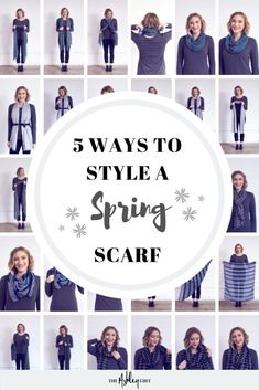 c22b3efe7 Ashley Nudge from The Ashley Edit shares how to style a lightweight spring  scarf 5 different