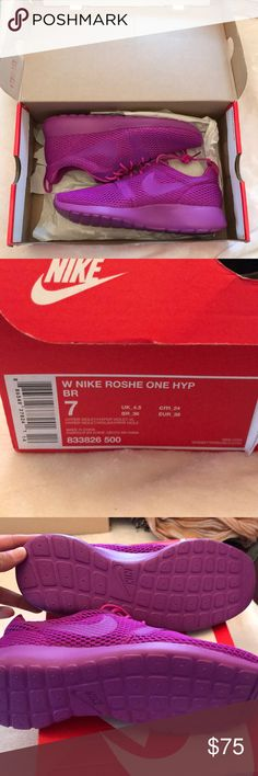 finest selection 9418a 16f3a Nike Roshe One Hyper Violet - NEW! Never used! Would make a great Christmas