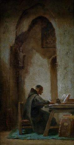 Carl Spitzweg  Studierender Mönch