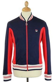 Settanta FILA VINTAGE Retro 70s Track Top. A style made famous by tennis legend Bjorn Borg: http://www.atomretro.com/product_info.cfm?product_id=12961 #filavintage #settantatracktop